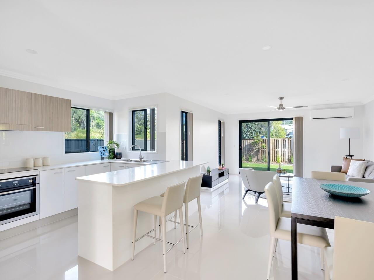 Open Plan Living with Kitchen, Lounge and Dining Room