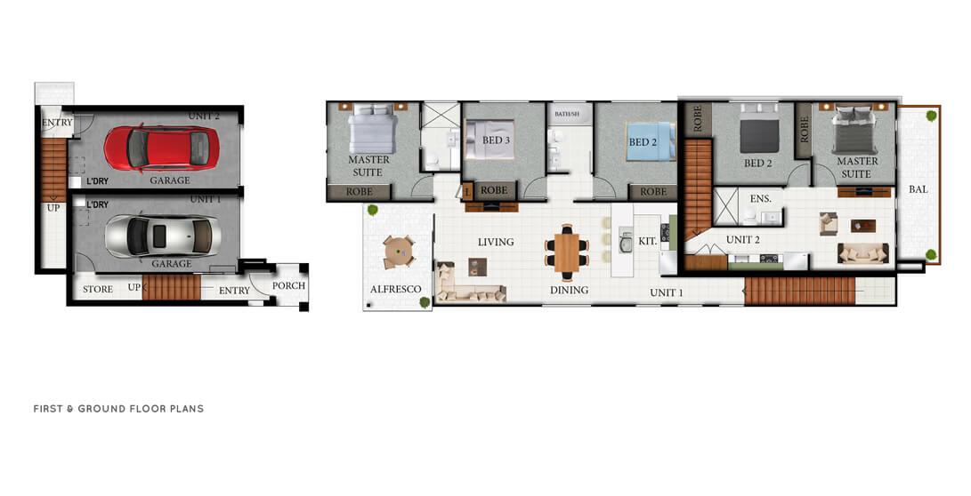 CAESAR Floor Plans