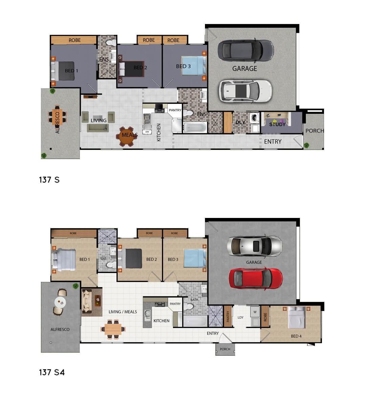 FLINT 137 Floor Plans